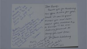 Do You Write On Both Sides Of A Thank You Card the Power Of A Thank You Card New Dentist Blog