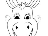 Donkey Face Mask Template Animal Mask Template Animal Templates Free Premium