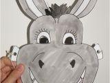 Donkey Face Mask Template Donkey Mask