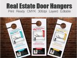Door Hanger Flyers Template Free 20 Creative Door Hanger Designs Free Premium Templates