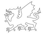 Dragon Cutout Template Welsh Dragon Pattern Use the Printable Outline for Crafts