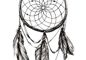 Dream Catcher Tattoo Template Drawn Dreamcatcher Stencil Pencil and In Color Drawn