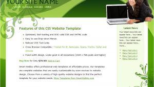 Dreamweaver Layout Templates Go Green Elegant Template