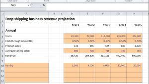 Drop Shipping Business Plan Template Drop Shipping Business Revenue Projection Plan Projections