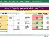 Dynamic Data Templates Dynamic Financial Scenario Analysis Using Excel