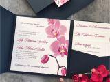 E Card Design for Wedding orchid Pocket Wedding Invitation Suite Weddingplanning