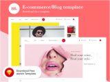 E Commerce Blogger Template Portfolio Hero Template Mockuplove
