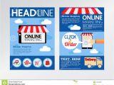 E-flyer Template E Commerce Online Marketing Magazine Cover Flyer Stock