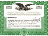 Eagle Stock Certificate Template Blank Certificates Corporation Blank Blumberg Stock