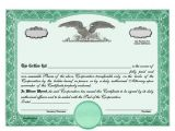 Eagle Stock Certificate Template Blank Stock Certificates