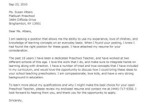 Early Childhood Education Cover Letter Examples Early Childhood Educator Cover Letter Letter Of