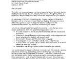 Early Childhood Education Cover Letter Examples Education Cover Letters for Resumes Early Childhood