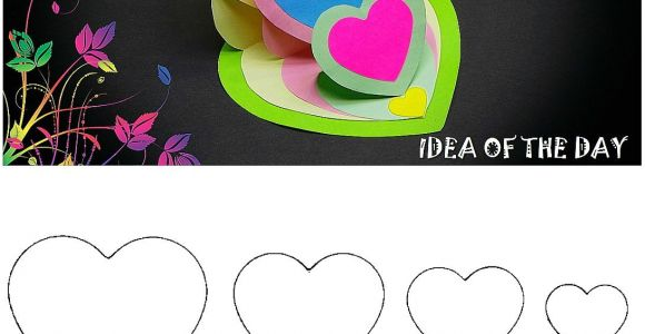 Easy and Beautiful Card Design Diy Triple Heart Easel Card Tutorial This Template for