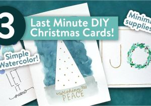 Easy and Simple Card Designs Easy Diy Christmas Cards Last Minute Card Ideas Youtube