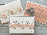 Easy and Simple Card Designs thoughtful Blooms Stamp Set Small Blooms Punch In 2020