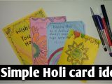 Easy and Simple Card Making 4 Simple Holi Greeting Card Ideas Beautiful Handmade Cards