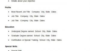 Easy Basic Resume Template 70 Basic Resume Templates Pdf Doc Psd Free