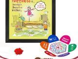 Easy Card Of Raksha Bandhan Indigifts Rakshabandhan Gifts for Brother Happiness is