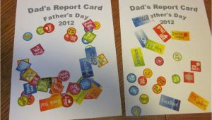Easy Card On Father S Day Father S Day Report Card 1 Craft with Images Fathers