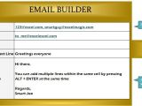 Easy Email Template Builder Email Builder Template My Excel Templates
