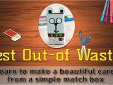 Easy Greeting Card Banane Ka Tarika How to Make A Greeting Card From Waste Material