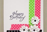 Easy Handmade Birthday Greeting Card Designs Bold Dot Tape Card Paper Cards Simple Cards Greeting