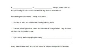 Easy Last Will and Testament Free Template 39 Last Will and Testament forms Templates Template Lab