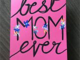 Easy Mothers Day Card Ideas Happy Mothers Day Hand Painted Acrylic Paint On Card with