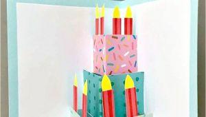 Easy Pop Up Birthday Card Easy Pop Up Birthday Card Diy Kartki Urodzinowe