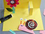 Easy Pop Up Card Flower Buntes Papier Pappe Ausgelesene Magazine Schere Und