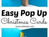 Easy Pop Up Xmas Card Diy Christmas Pop Up Card Pop Up Christmas Cards Easy
