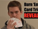 Easy Quick Card Magic Tricks Super Easy Card Trick Tutorial Burn Em Trick