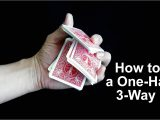 Easy Sleight Of Hand Card Tricks How to Perform A One Handed Triple Cut with Cards