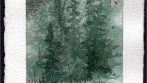 Easy Watercolor Christmas Card Ideas Hand Painted Watercolor Christmas Card Christmas
