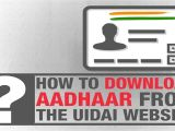 Easy Way to Download Aadhar Card How to Download Aadhaar How to Download Aadhaar From the