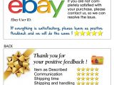 Ebay Feedback Request Template 100 Thank You Business Card for Ebay Seller Free Shipping