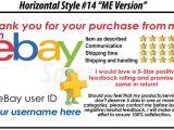 Ebay Feedback Request Template 50 Ebay Seller Custom Personalized 5 Star Reminder Thank