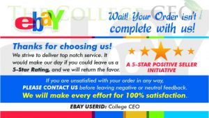 Ebay Feedback Request Template Ebay Seller Thank You Feedback Cards Template Free