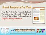 Ebook Cookbook Template Ebook Templates for Word