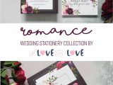 Edit Name On Marriage Card Our Gorgeously Romantic Dark Floral Wedding Stationery
