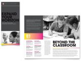 Education Brochure Templates Free Download Adult Education Business School Tri Fold Brochure