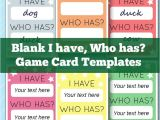 Educational Game Templates I Have who Has Template Learning Games for Kids Game