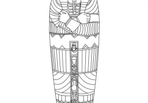Egyptian Sarcophagus Template Egyptian Sarcophagus Coloring Pages Hellokids Com