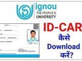 Eid Card Banane Ka Tarika Ignou Id Card A A A A Download A A A A How to Download Ignou I Card