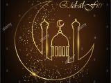 Eid Card Of Eid Ul Adha Eid Al Fitr Grua Karte Mit Line Moschee Kuppel Mond Und