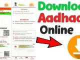 Eid Number In Aadhar Card Aadhar Card Download How to Download Aadhaar Card Online