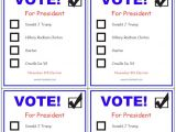 Election Ballots Template Printable Voting Ballots for Kids Add Your Candidates