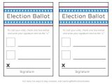 Election Ballots Template Voting Printables for Kids Learning Liftoff