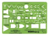Electrical Drafting Templates Alvin Electric Electronic Template Td1279