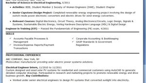 Electrical Engineer Resume Keywords Electrical Engineer Resume Sample Pdf Entry Level